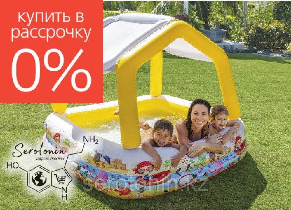 "Детский надувной бассейн ""Домик"" Intex 157х157х122"