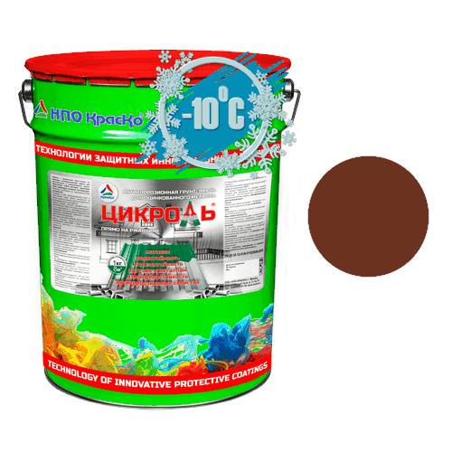 Цикроль – грунт-эмаль по оцинкованному металлу 25 кг RAL 3009