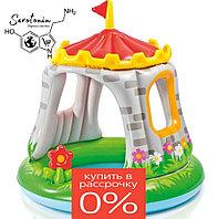 """Детский надувной бассейн с навесом """"Крепость"""" (122* 122 см)"""