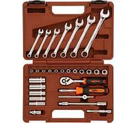 """Набор торцевых головок 1/4"""" и комбинированных ключей, 30 предметов Ombra OMT30S"""