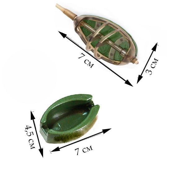 Кормушка рыболовная Stinger 4 шт. 15гр, 20гр, 25гр, 30гр с пресс формой - фото 2