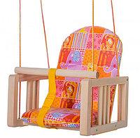 ГНОМ Качели деревянные подвесные мягкое сиденье Лимпопо
