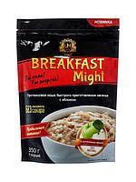 """Umight / Протеиновая каша быстрого приготовления """"Breakfast Might"""" овсяная с яблоком, 350 г"""