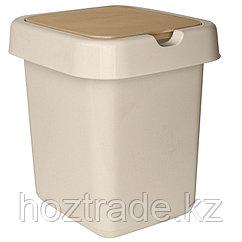 """Ведро-контейнер для мусора (урна) Svip """"Квадра"""", 14 л, прямоугольное, пластик, кофейного цвета"""