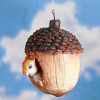 """Подвесной декор """"Орех с белкой"""" 20х15см"""