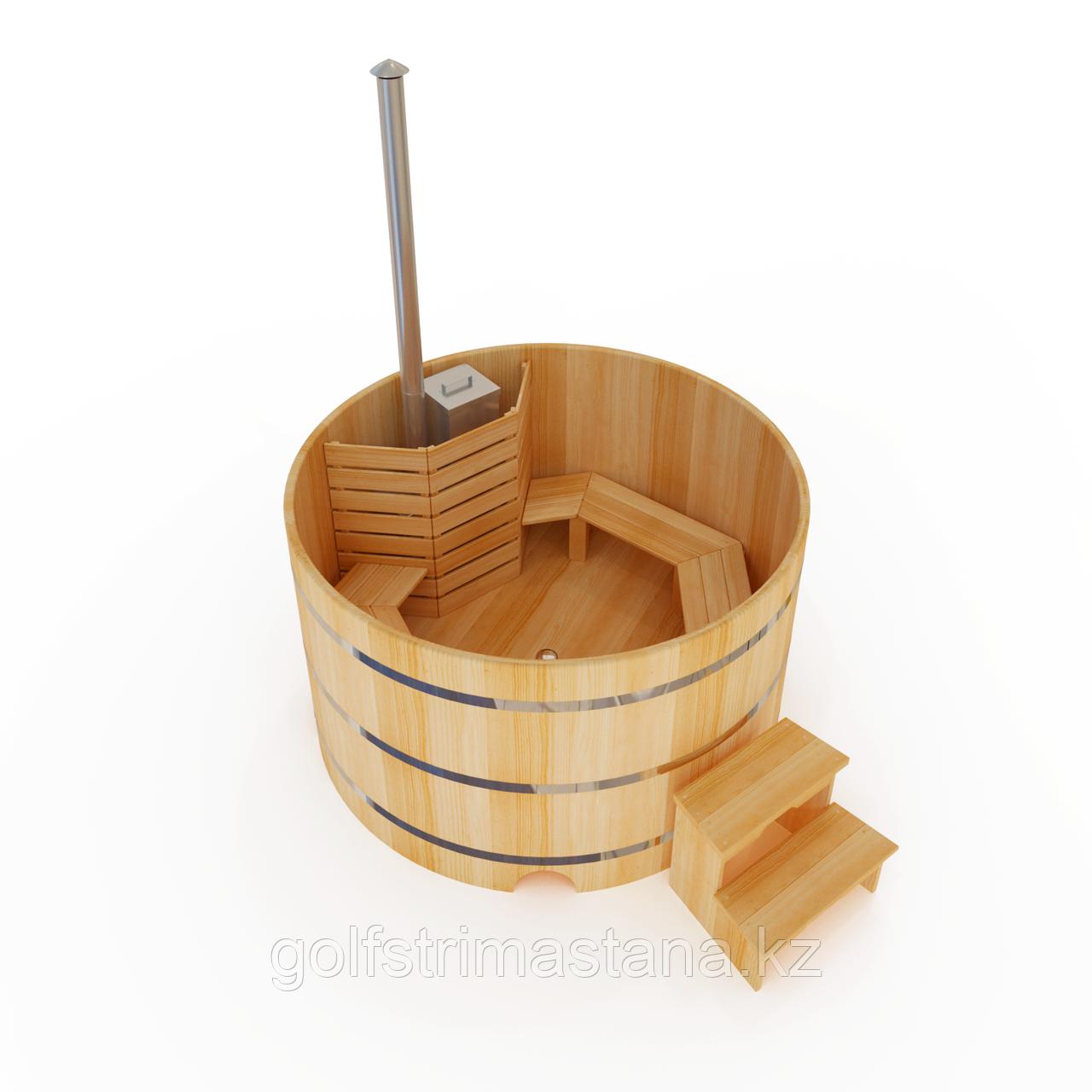 Фурако кедровая, Круглая, 120*180/4 см, печь внутри, Стандарт