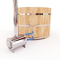 Фурако кедровая, Круглая, 120*220/4 см, печь снаружи, Стандарт