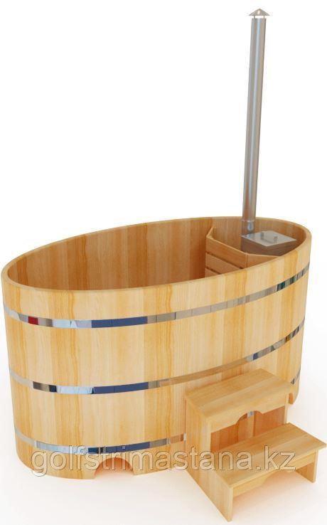 Фурако кедровая, Овальная, 120*120*180/4 см, печь внутри, Стандарт