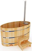 Фурако кедровая, Овальная, 120*120*220/4 см, печь внутри, Стандарт