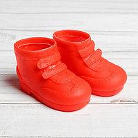 Ботинки для куклы «Липучки», длина подошвы: 7,5 см, 1 пара, цвет красный