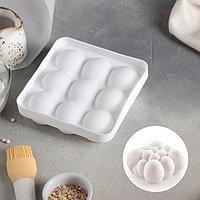 Форма для муссовых десертов и выпечки Доляна «Сладкие шарики», 14,8×4,1 см (внутренний размер 12,5×12,5 см),