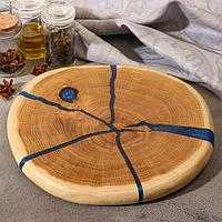 Спил дуба круглый диаметр 25 см, толщина 2 см