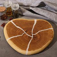 "Спил дуба ""Сердечко"" диаметр 27 см, толщина 2 см"