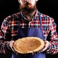 """Блюдо-спил для подачи """"Дубовый"""", 20-25 см, массив дуба"""