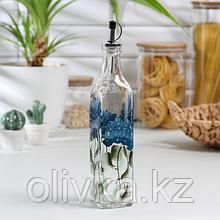 Бутыль для соусов и масла «Васильки», 500 мл, 30×6 см
