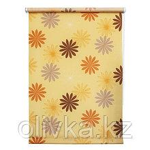 Рулонная штора «Космея», 40 х 175 см, цвет оранжевый