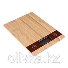 Весы кухонные Galaxy LINE GL 2812, электронные, до 5 кг, LCD-дисплей, коричневые