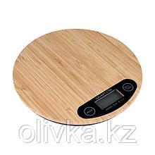 Весы кухонные Galaxy LINE GL 2813, электронные, до 5 кг, LCD-дисплей, коричневые