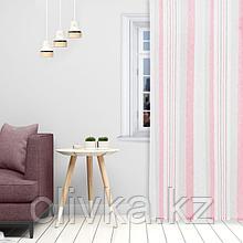 Штора портьерная Этель 140*280 см, Меланж розовый