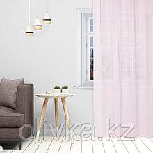 Тюль «Этель» 145×270 см, цвет розовый, вуаль, 100% п/э