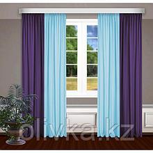 Шторы, размер, 145 х 270 см - 2 шт., цвет голубой/фиолетовый