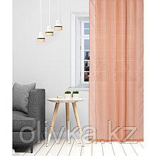 Тюль Этель 140×300 см, цвет терракотовый, вуаль, 100% п/э