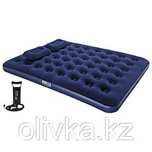Матрас надувной Pavillo, 203 х 152 х 22 см, ручной насос, 2 подушки, 67374 Bestway