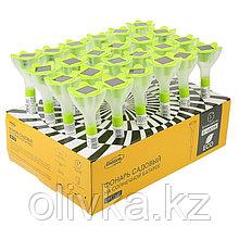 """Фонарь садовый на солнечной батарее """"Цветок зеленый"""", 32 см, d=6 см, 1 led, пластик"""