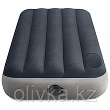 Матрас надувной Single-High, 99 х 191 х 25 см, встроенный насос на батарейках 4 х АА, встроенный ножной насос,