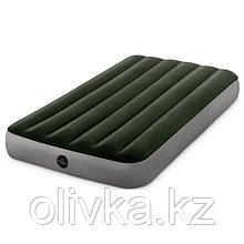 Матрас надувной DURA-BEAM TWIN, 99 х 191 х 25 см, с насосом на батарейках 6 С, 64777 INTEX