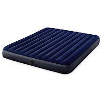 Матрас надувной Classic Downy Fiber-Tech, 183 x 203 х 25 см, 64755 INTEX