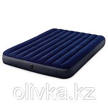 Матрас надувной Classic Downy Fiber-Tech, 152 х 203 x 25 см, 64759 INTEX