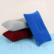 Подушка дорожная, надувная, 38 × 24 см, цвет МИКС