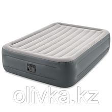 Кровать надувная Essential Rest Airbed, 152 х 203 х 46 см, встроенный насос 220V, 64126NP INTEX