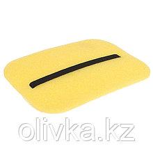 Коврик-сидушка с креплением на резинке, 35 х 25 см, толщина 10 мм, цвет жёлтый