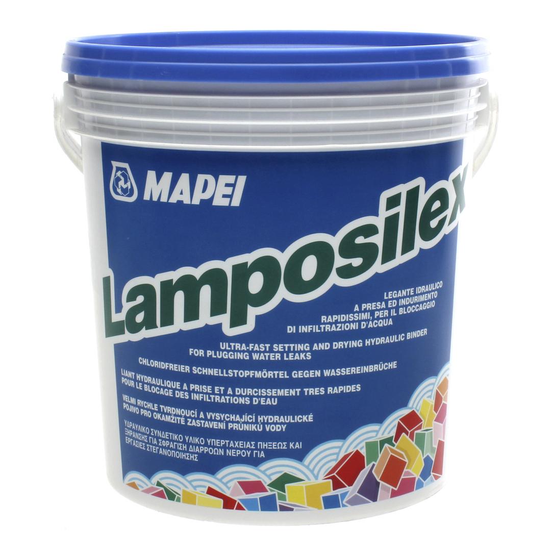 LAMPOSILEX гидровлическое вяжущее сверхбыстрого схватыван. и высыхания для остановки водопритока 5кг