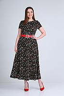 Женское летнее хлопковое черное нарядное платье Lady Line 499 46р.