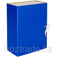 Короб архивный с завязками OfficeSpace разборный, БВ, 120мм, ассорти, сплошной, клапан микрогофрокартон, до 10