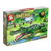 Конструктор Мир динозавров «Сражение с крокодилом», 520 деталей