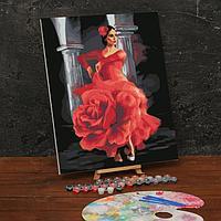 Картина по номерам на холсте с подрамником «Девушка в танце» 40х50 см