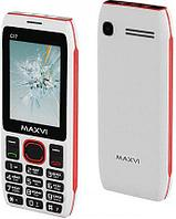 Мобильный телефон Maxvi C17 white-red