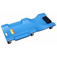 Лежак для автослесаря пластиковый на 6-ти колесах 40''(1050х490х95мм)