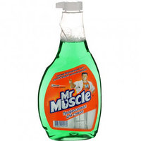 Средство для мытья стекол Mr.Muscle, сменный флакон, 500 мл, зеленый