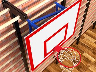 Щит баскетбольный навесной с фермой