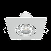 Светильник Gauss Downlight квадрат 6W 520lm 4000K 100-265V IP20 монтаж Ø65 90*56мм белый LED