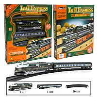 Набор игрушечный железная дорога скоростной поезд на батарейках со световым и музыкальным сопровождением