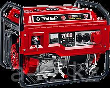 380 В бензиновый генератор с электростартером, 7000 Вт, ЗУБР