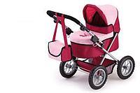 Коляска для кукол Bayer Trendy малиновый/ розовый
