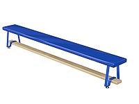 Скамья гимнастическая мягкая, ножки металлические 2м