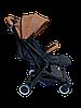 Прогулочная коляска Teknum 308 (ЭКОКОЖА) Рыжая, фото 2